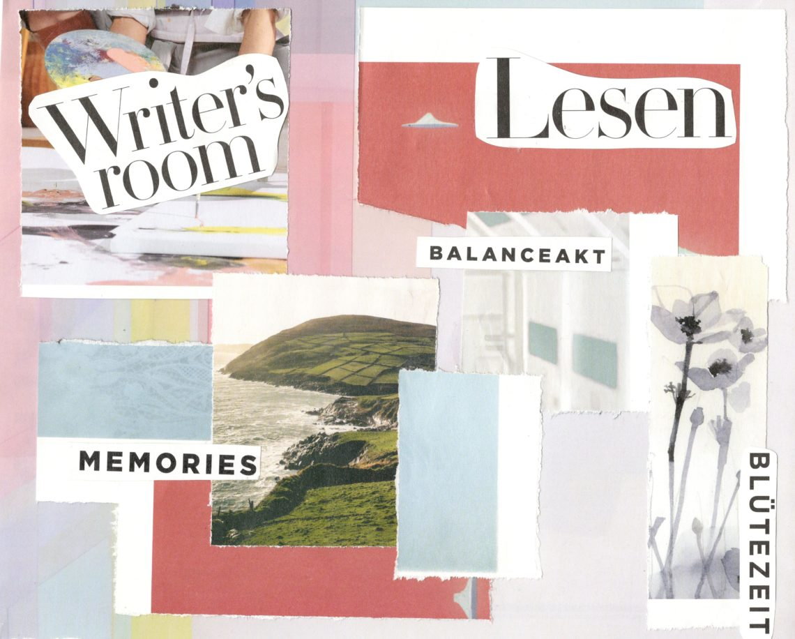 Collage, Lesen, Writer, Memories, Balanceakt, Blütenzeit