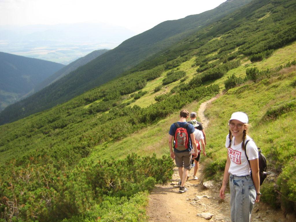 Berg besteigen