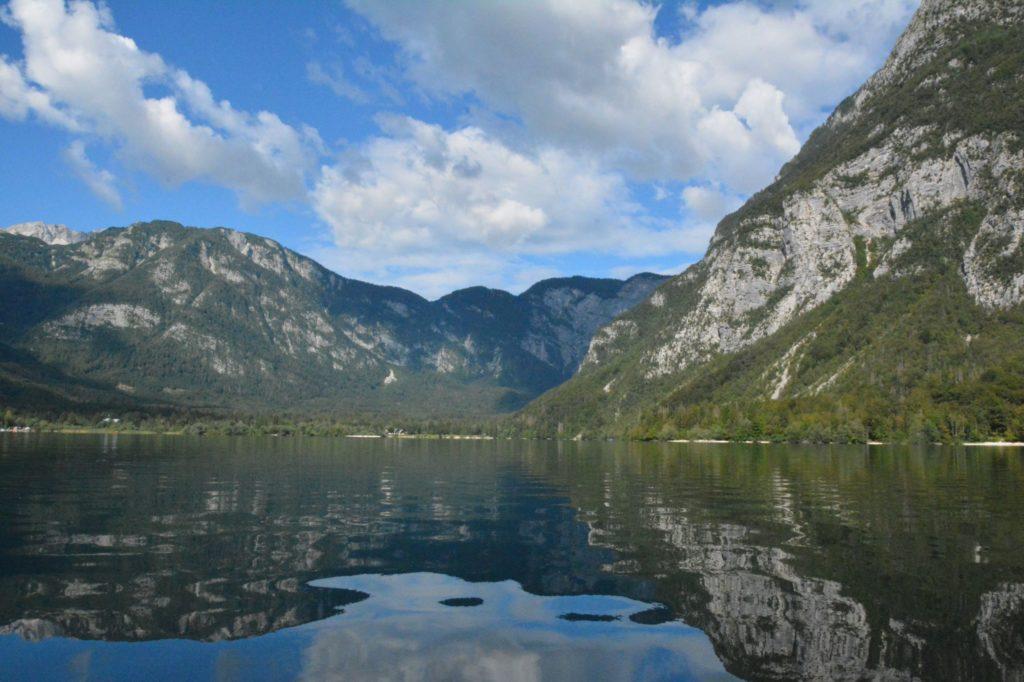 See Jezero Spiegelung Berge Triglav Slowenien