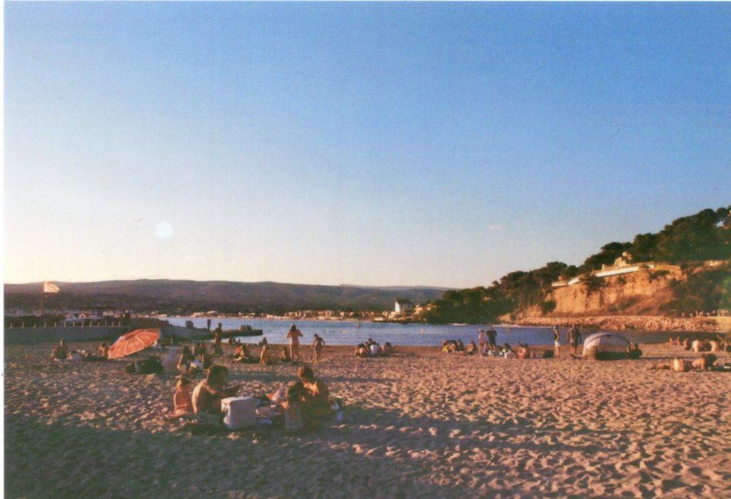Strand Stadt Frankreich