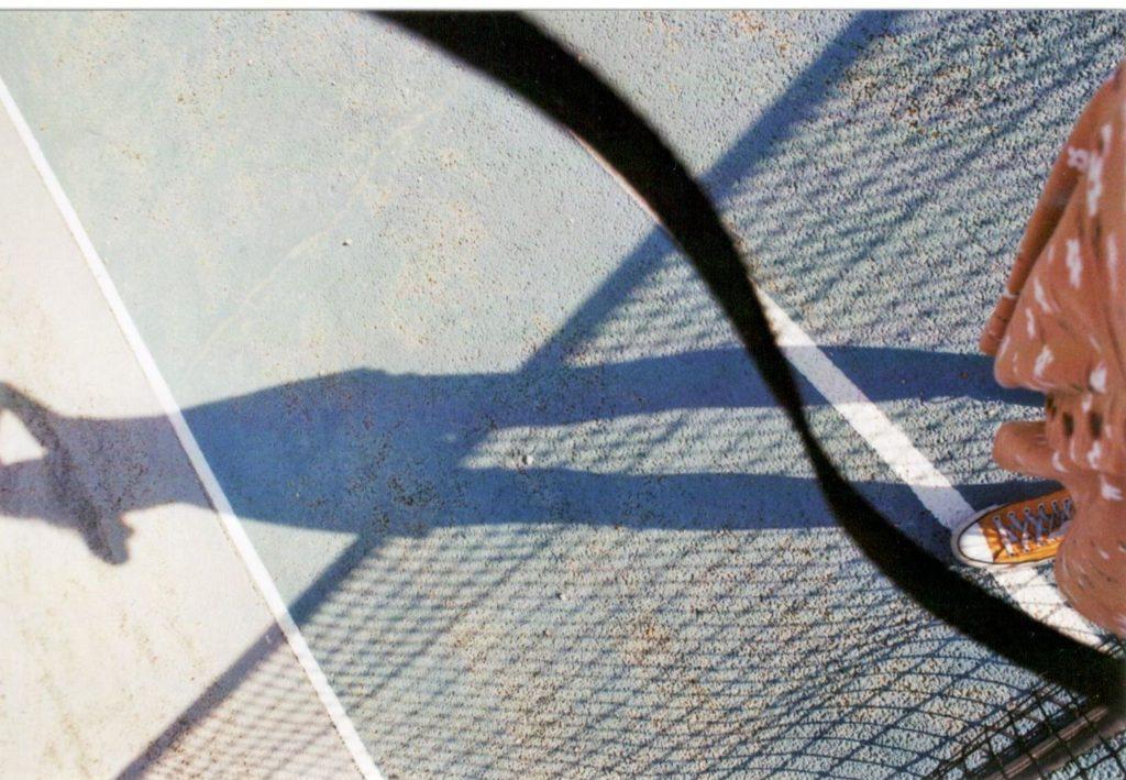 Tennisplatz Schatten