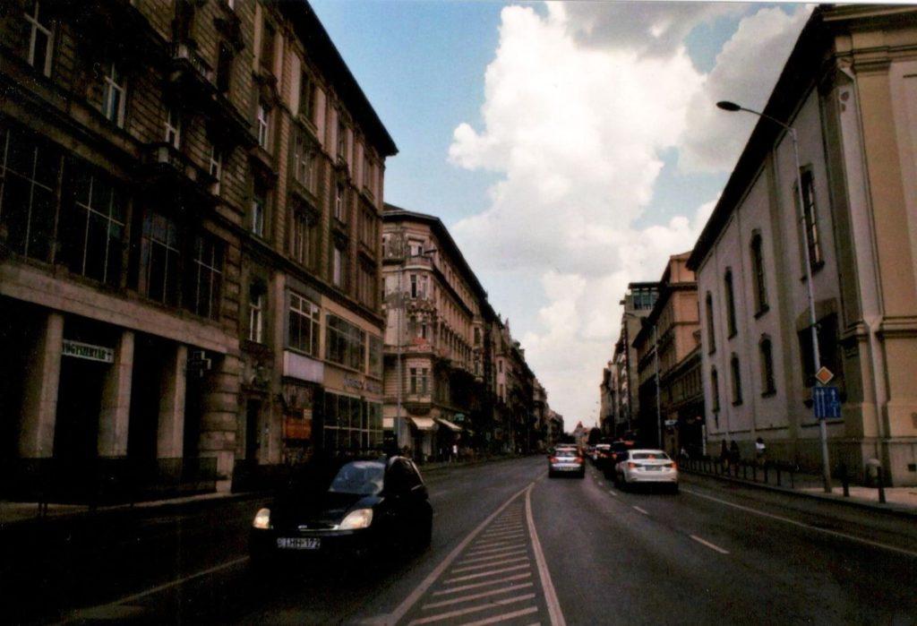 Analoges Bild Budapest Straße