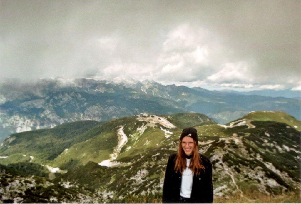 Analog Film Slowenien Berg Vogel Ausblick Gebirge