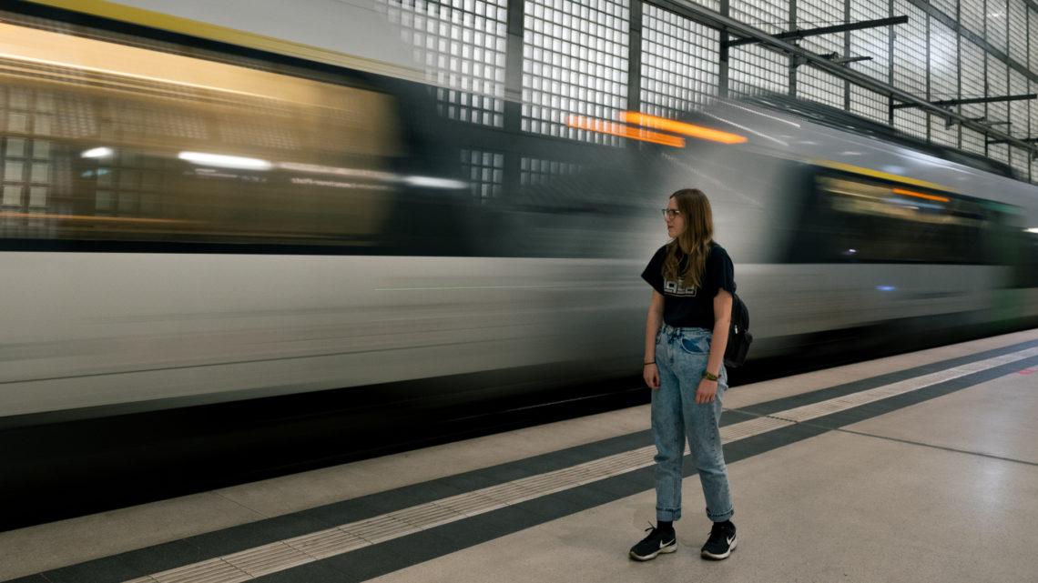 Leipzig Bahn Langzeitaufnahme